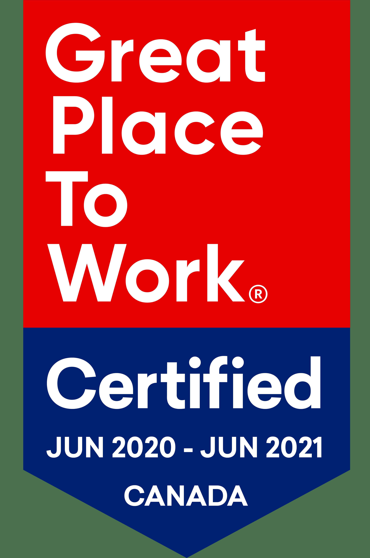 Great Place to Work Certification Badge June 2020 - EN